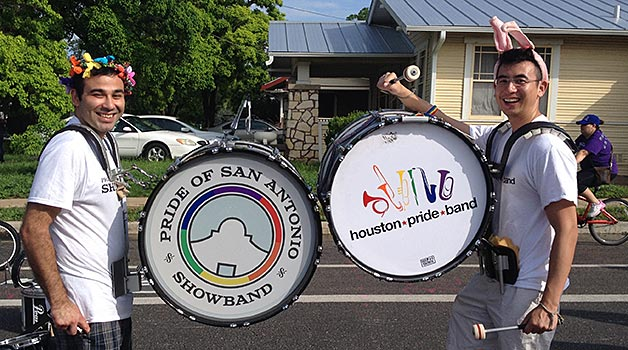 Bass Drums at 2015 King William Parade